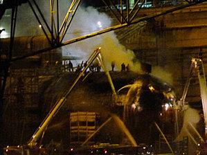 Armageddon averted? Nukes 'on board' blazing sub