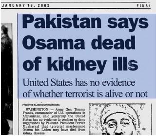 Bush Knew Bin Laden Murdered in 2001