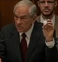 Dr. Ron Paul Shows Ben Bernanke What Real Money Looks Like