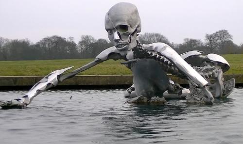 Bilderberg 2013 Transhumanism Sculpture