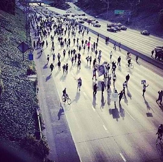 Trayvon Martin Protesters Shut Down LA Freeway
