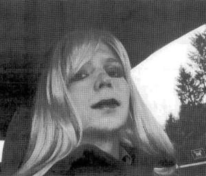 Bradley Manning dresses in drag