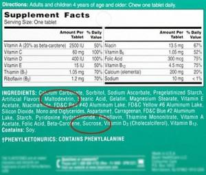 Childrens-Vitamin-Label-Maltodextrin-Sucrose-400