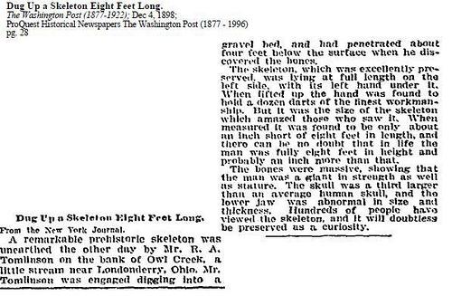 Old Newspaper Dump: Giants Once Roamed The Earth 9297230164_46c543110b