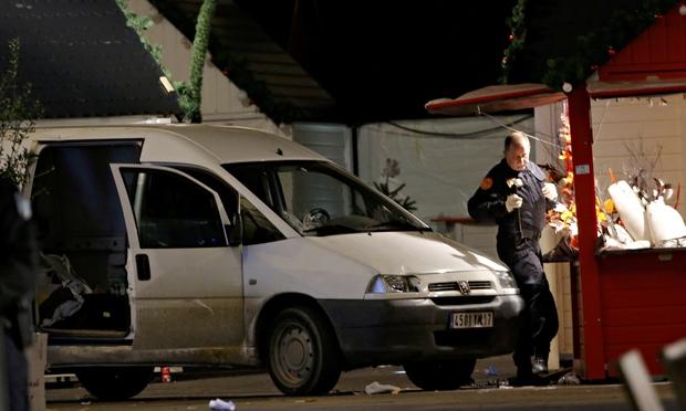 10 injured as man drives van into Christmas fair in Nantes, France