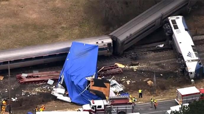 Amtrak train derails in N. Carolina after truck collision
