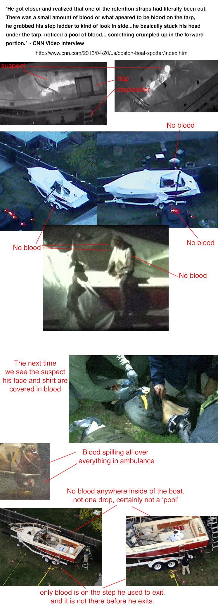 Breakdown of the boat capture. He wasn't bleeding when he was inside that boat