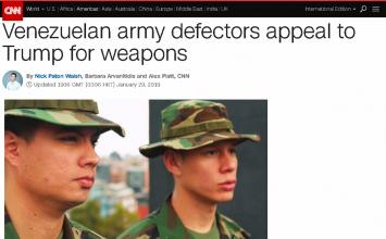 CNN's 'Venezuelan army defectors' not in army, not defectors & don't live in Venezuela