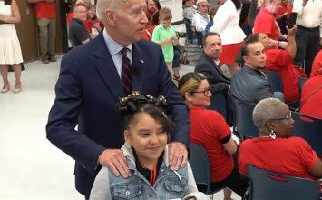 'Creepy Joe strikes again': Biden calls 10-year-old girl 'good looking' at campaign event