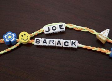 "Biden's ""Best Friends Day"" bracelet to Obama has 'pizza' on it"