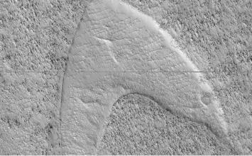Star Trek's Starfleet logo spotted on Mars