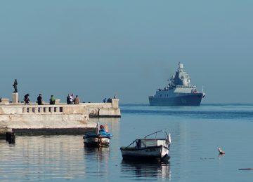 Russian frigate arrives in Cuba under watchful eye of US Navy