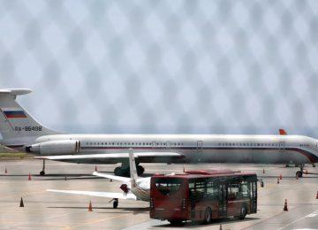 Russian 'military plane' lands in Venezuela