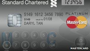 New Mastercard has LCD screen and keyboard