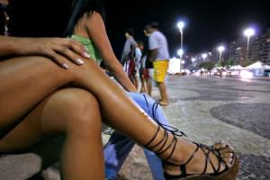 Prostitutes work in the Copacabana neighborhood of Rio de Ja