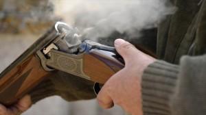 A-smoking-12-bore-shotgun-having-ejected-spent-a-cartridge-by-Max-Earey-via-Shutterstock