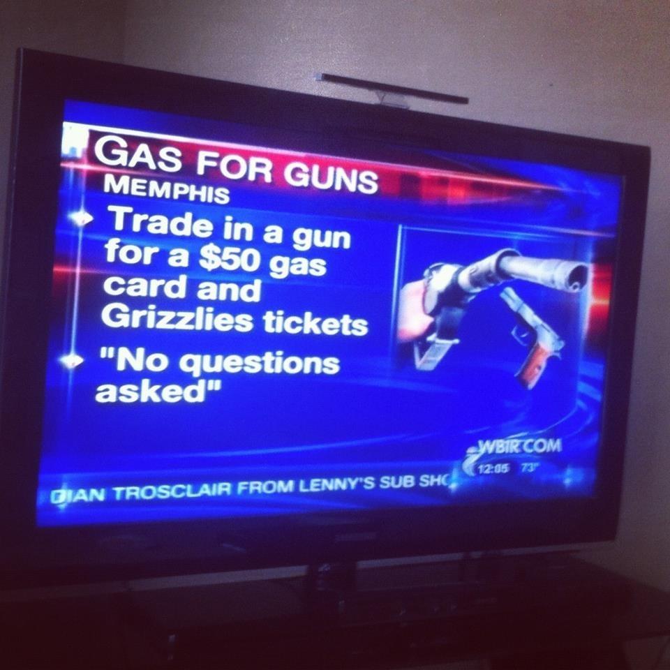"""Guns for Gas"" offer going on in Memphis"