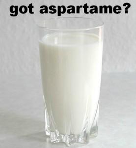 aspartame in milk