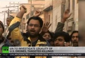 drone attacks protest