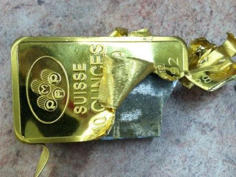 Tungsten-Filled 10 Oz Gold Bar Found In Manhattan