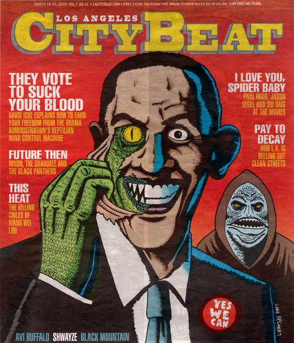 Reptilian Obama Magazine Cover