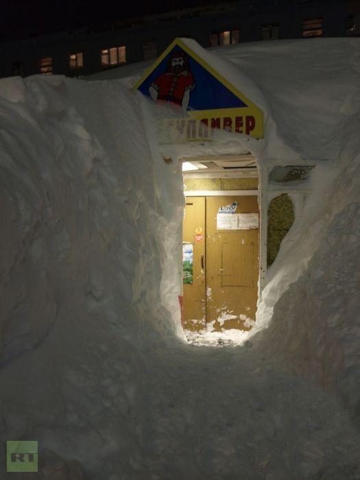 Snowpocalypse Russia: Snow Tsunami swallows cars, streets, buildings (Photos)