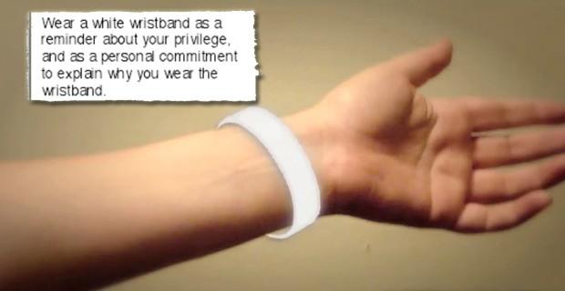 Gov't Wants Volunteers to Wear 'White Guilt' Bracelets
